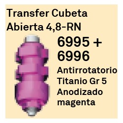 Transfer Cubeta Abierta 4.8 RN Octógono Interno