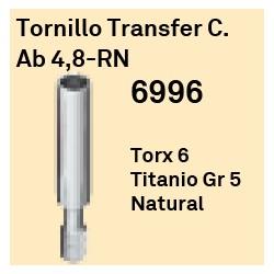 Tornillo Transfer C.Ab 4.8 RN Octógono Interno