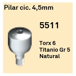 Pilar Cic. 4.5 mm Octógono Interno