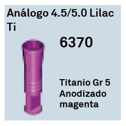 Análogo 4,5/5,0 Lilac Ti Cónica Interna