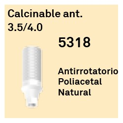Calcinable Ant. 3,5/4,0 Cónica Interna