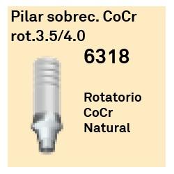 Pilar Sobrec. CoCr Rot. 3.5/4.0 Cónica Interna