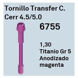 Tornillo Transfer C.Cerrada 4.5/5.0 Cónica Interna