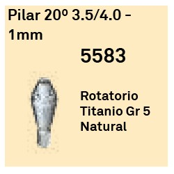 Pilar 20º 3.5/4.0 - 1 mm Cónica Interna