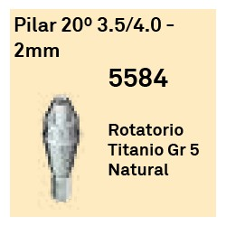 Pilar 20º 3.5/4.0 - 2 mm Cónica Interna