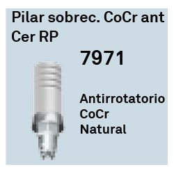 Pilar Sobrec. CoCr Ant. Cer RP Hexágono Interno