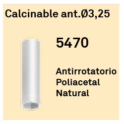 Calcinable Ant. Ø 3.25 Héxagono Externo