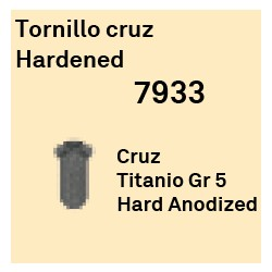 Tornillo Cruz Hardened Héxagono Alto