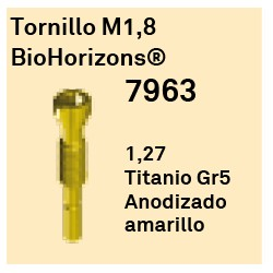 Tornillo M1,8 BioHorizons Héxagono Externo