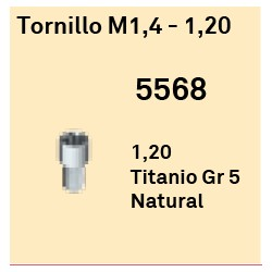 Tornillo M1,4 - 1,20 Cónica Externa