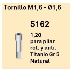Tornillo M1,6 - Ø 1.6 Hexágono Interno