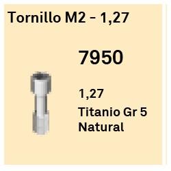 Tornillo M2 - 1,27 Hexágono Interno