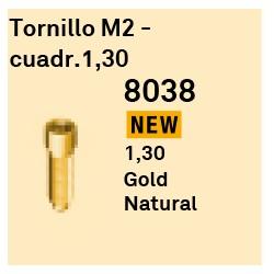 Tornillo M2 - Cuadr 1,30 GoldGrip Héxagono Externo