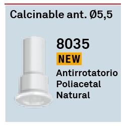 Calcinable Ant. Ø 5,5 Héxagono Alto