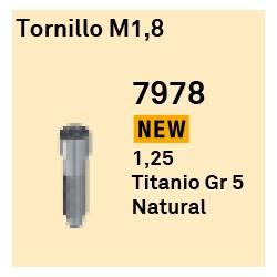 Tornillo M 1,8 Héxagono Externo