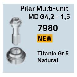 Pilar Multi-Unit MD Ø4,2-1,5 mm Héxagono Externo