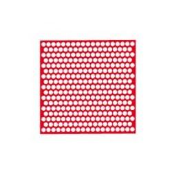 Red De Perforaciones Redondas Rojas Cera -20 tabl