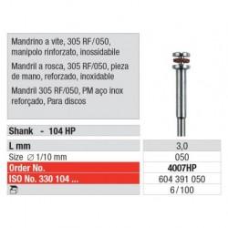 4007HP Mandril a Rosca 303RF/050 Reforzado Pieza de mano 100 uni