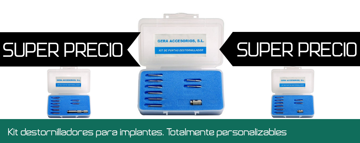 Kit destornilladores implantes totalmente personalizables